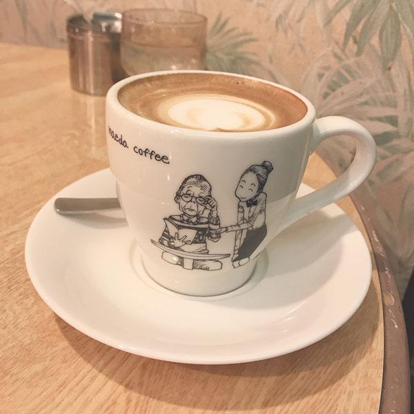 前田珈琲のカフェラテ