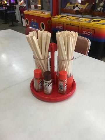 お箸と調味料