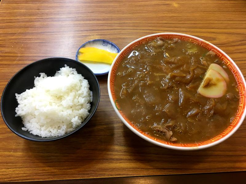 京一 本店のカレー中華とライス