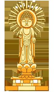 金色の仏像のイラスト