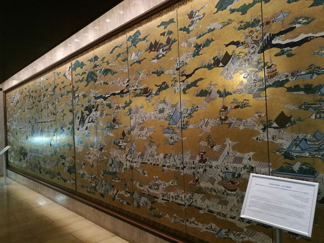 国宝「洛中洛外図屏風(上杉本)」陶板壁画レプリカ
