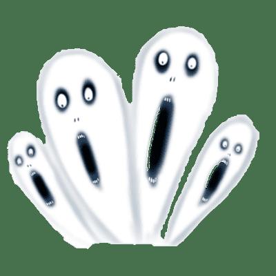 怨霊のイラスト