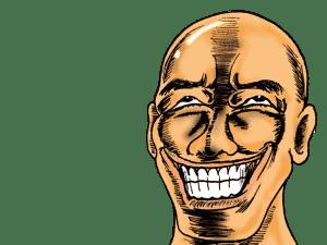 ゲスな笑みを浮かべる僧侶